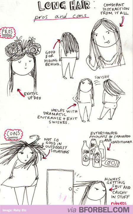 Story Foyer Pros And Cons : Pros and cons of long hair… story my life funny