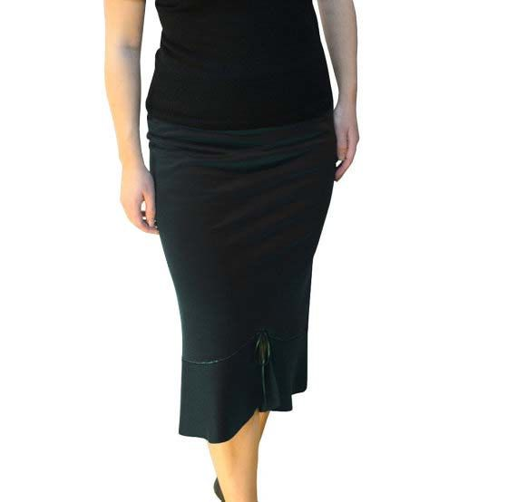 Black Pencil Skirt Plus Size Pencil Skirt  Maxi Skirt