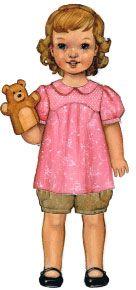 digital puppet show tunic, dress + shorts sewing pattern