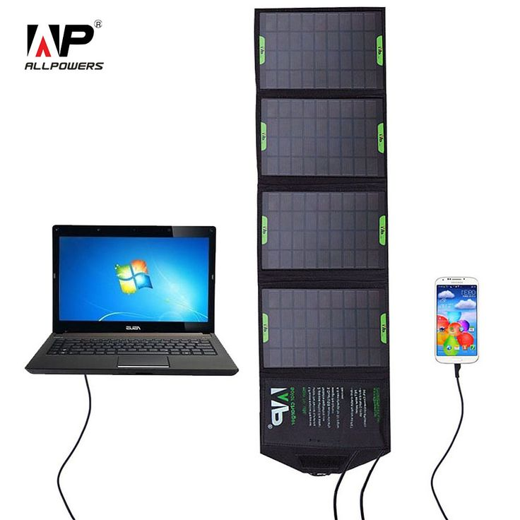 ALLPOWERS 5V / 18V 14W Outdoor Foldable Solar Panel Charger Power Bank External Battery Pack for Laptop Mobile Phone iphone | #PhoneCharger