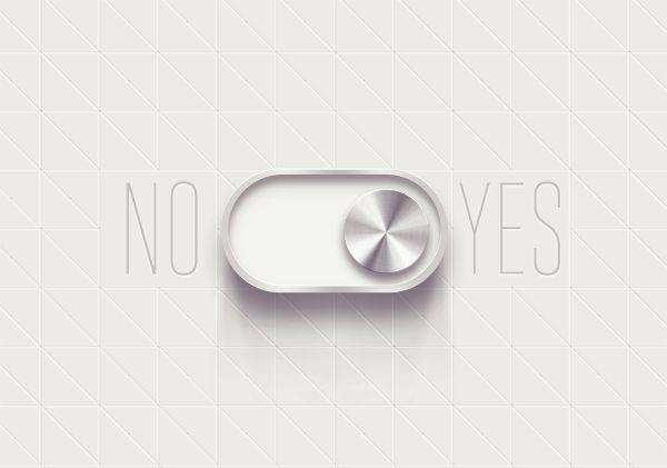 Yes/No Interfaces by Nina Georgieva, via Behance