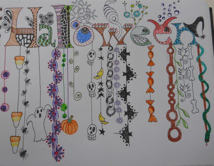 a zentangle/dangle for halloween