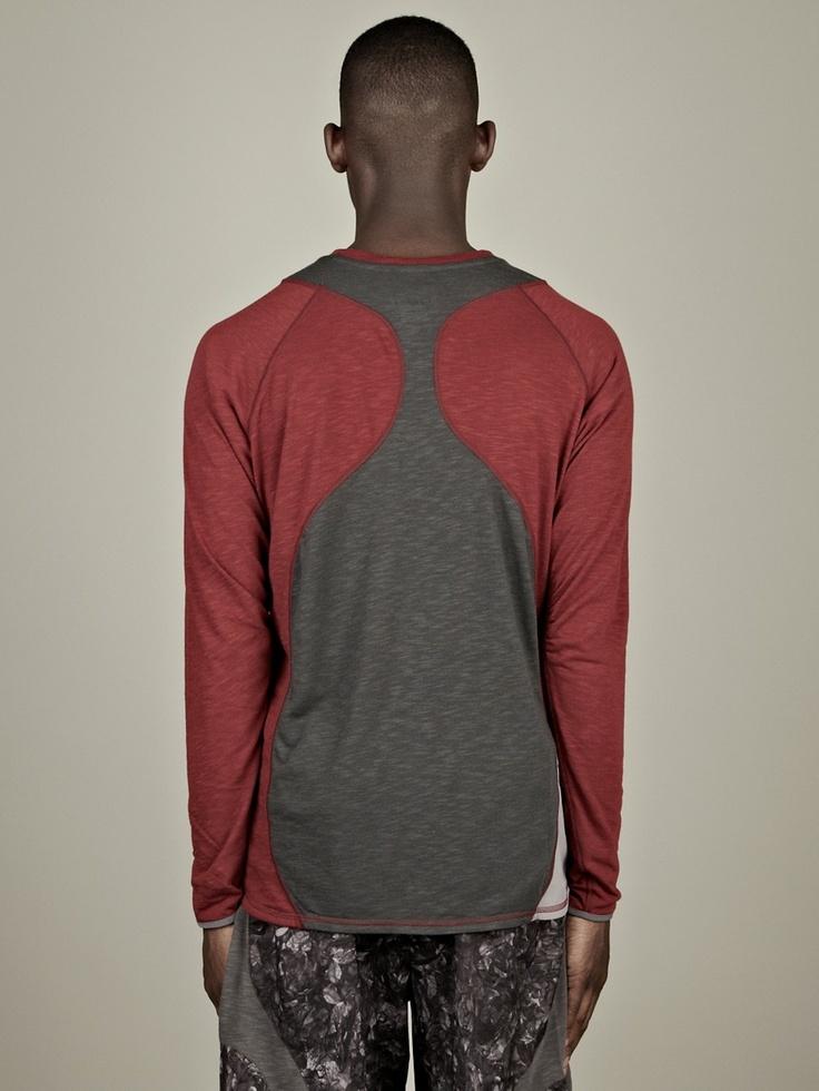 Nike Gyakusou Men's Long Sleeve Jersey Top in team red at oki-ni
