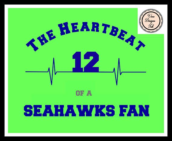 The Heartbeat of the 12th Man Seahawks Fan Football Instant