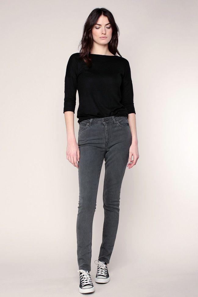 Jean slim gris vintage 721 taille haute Levi's prix promo Jeans Femme Monshowroom 119.00 €