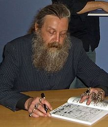 Alan Moore, best graphic novel writer.