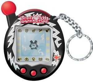 "Tamagotchi Connection V4 - Black Sparks by Bandai. $38.50. Over 20 new characters in this version: 52 total.. ""gotchi"" point system: player is awarded points at each stage of growth and players earn points for playing games. Use points to purchase gifts for friends.. Dictate your Characters' Education, Career and Lifestyle. Online community and interactivity with passwords. There are single or 2 player games: 6 total. From the Manufacturer                Kids can communi..."