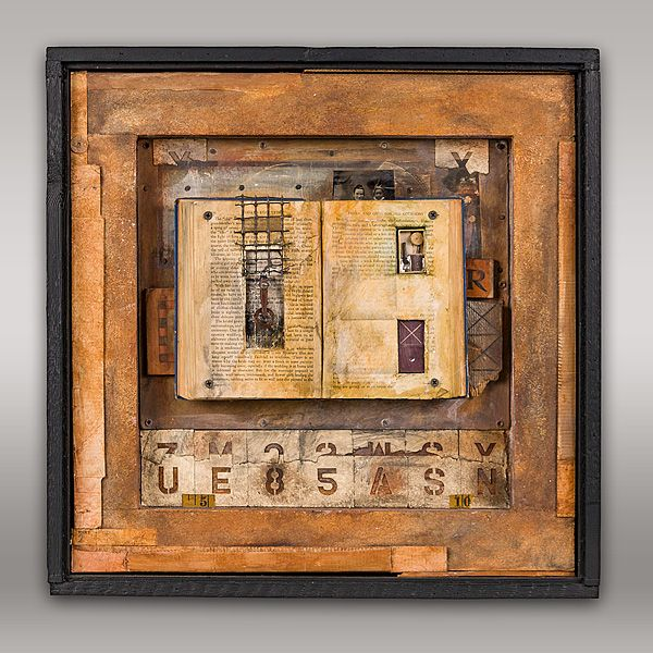 JEROME D'ANGELO - WORK#thebestmedicime#alteredbook#collage#foundobjects#painting