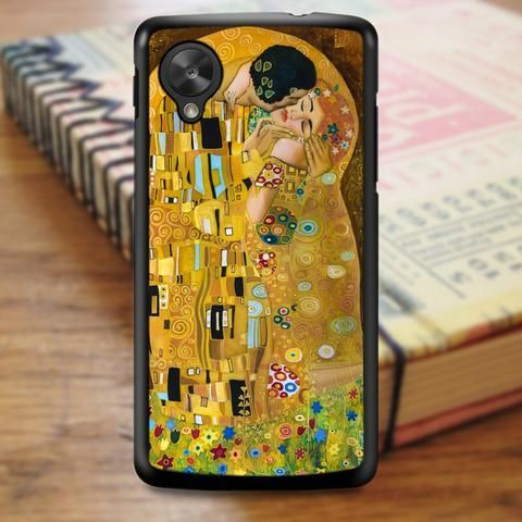 Gustav Klimt Kiss Art Painting Floral Nexus 5 Case