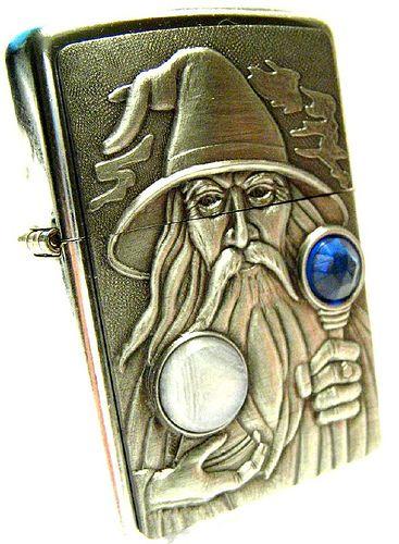 Jeweled Wizard Zippo