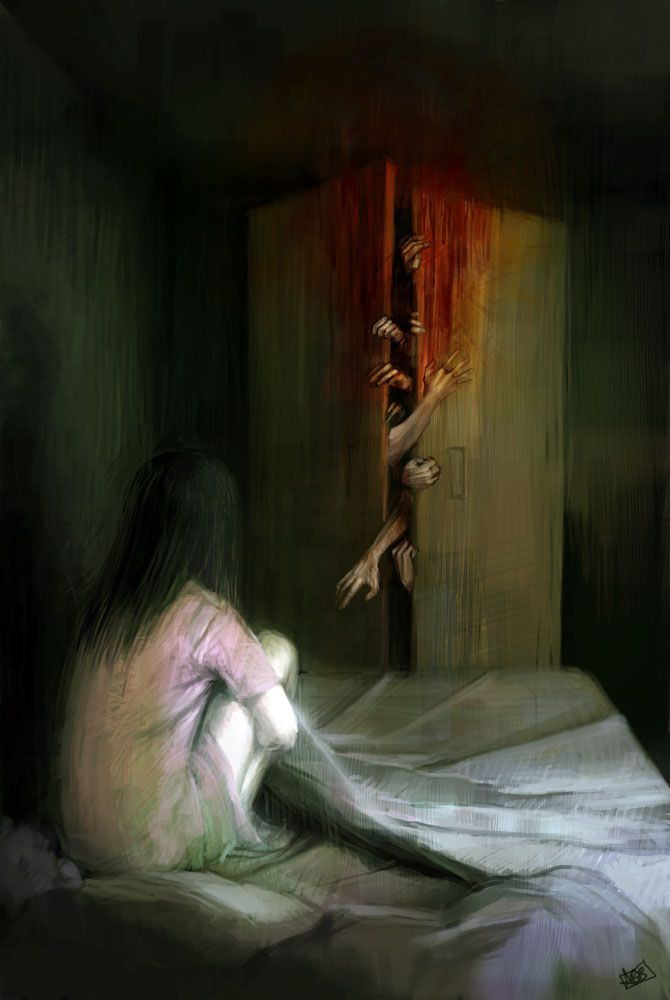 ✯ Night Terrors II .. By ~Ani-r ✯ Open the door. Excellent art work- and the emotion this evokes... wow! Great Piece, Ani-r!