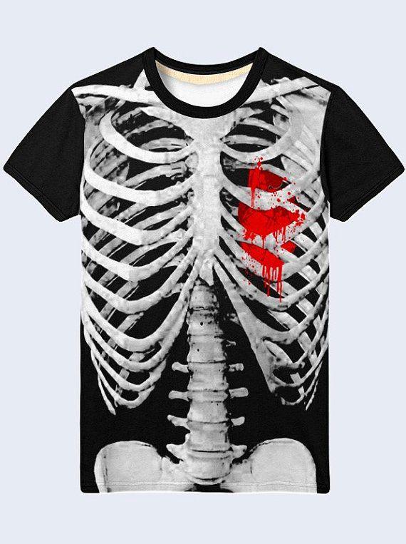 Chemise pour homme squelette anatomie drôle T Shirt par NewVelikan