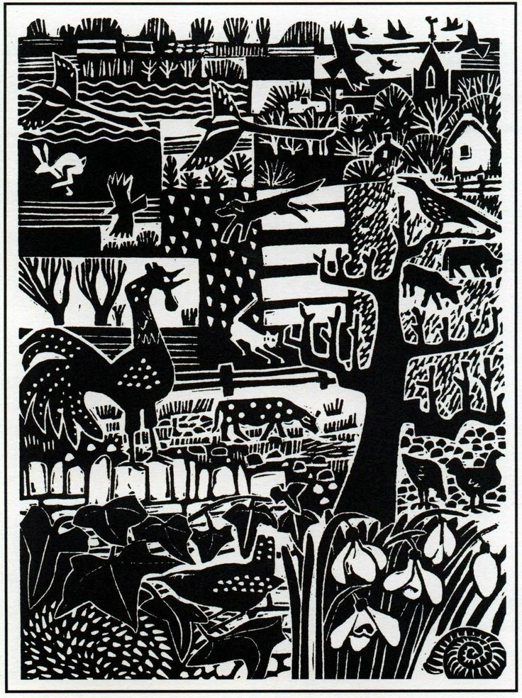 Carry Ackroyd lino cut
