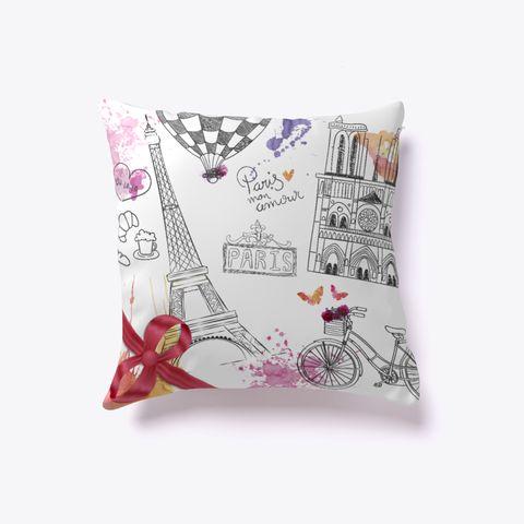Best Pillow Online [Paris]!  White T-Shirt Front