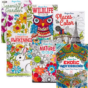 Bulk Designer Series Adult Coloring Books At DollarTree