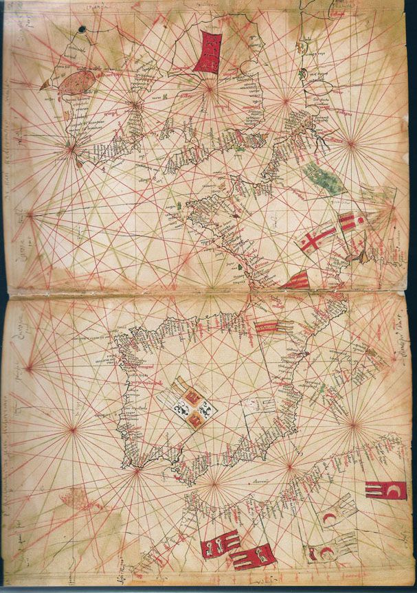 medieval nautical chart