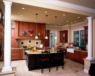 1000 images about kitchen on pinterest cherry kitchen for Country living light mahogany kitchen island