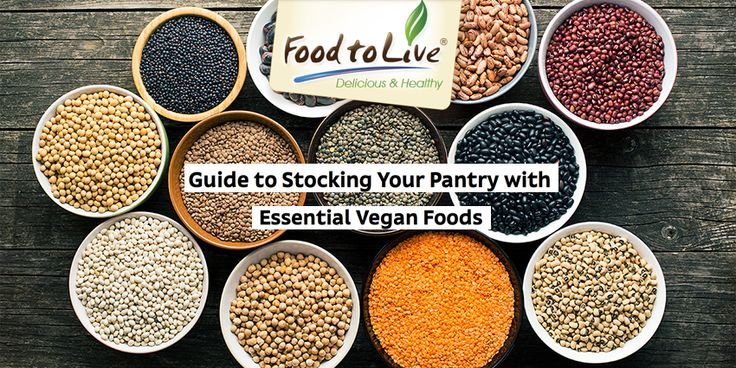 #BlogPost Guide to Stocking Your Pantry with Essential Vegan Foods Stocking the pantry of a vegan isn't really all that different from an omnivore as there are quite a few plant foods among our staples. However, in order to be healthy, any diet must be well-balanced. This means that vegans have to include more foods to make up for the nutrients other people get from meat, eggs, fish, and dairy products.
