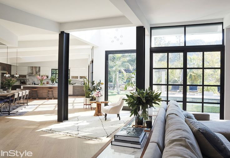 Tour Lea Michele's Airy L.A. Abode - OPEN FLOOR PLAN from InStyle.com