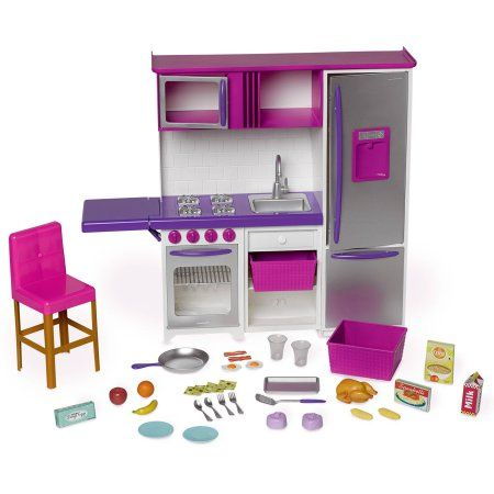 My Life As Doll Kitchenette with Large Refrigerator - Walmart.com
