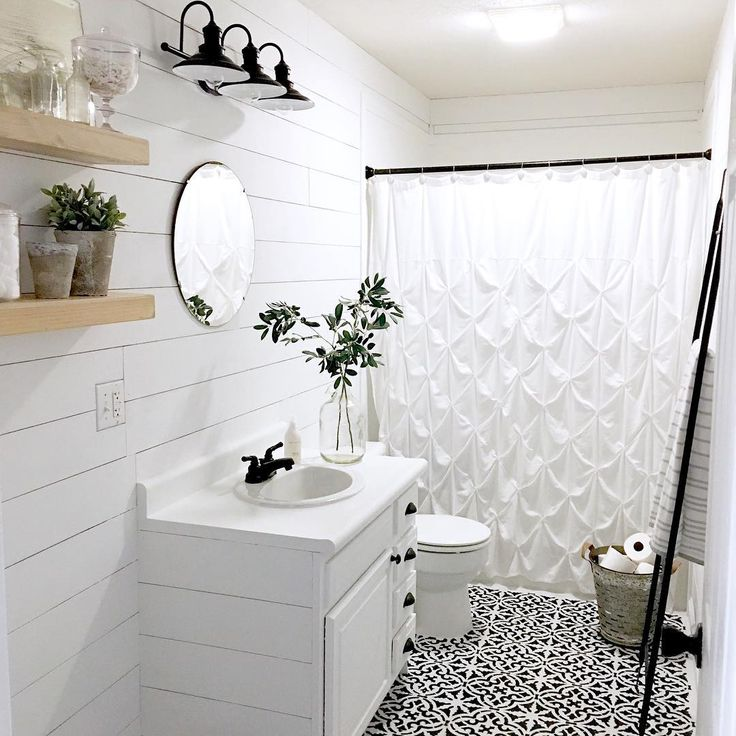 """1,230 Likes, 90 Comments - A P R I L (@sweetkentuckyholler) on Instagram: """"Our bathroom mini makeover is on the blog! I know the lighting is kinda' weird here with no windows…"""""""