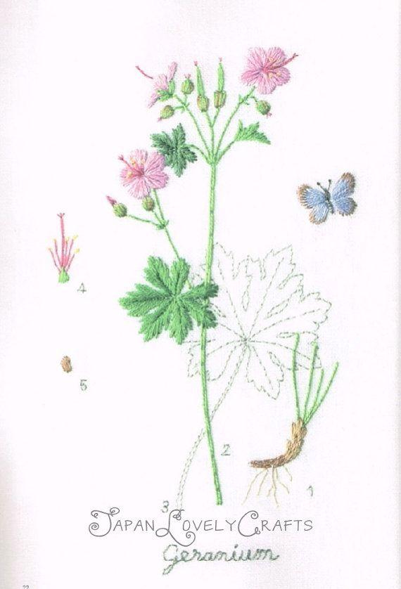 Embroidered garden flower kazuko aoki hand embroidery