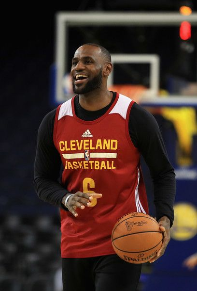 LeBron James Photos Photos - LeBron James #23 of the Cleveland Cavaliers works out during a practice for the 2017 NBA Finals at ORACLE Arena on May 31, 2017 in Oakland, California. NOTE TO USER: User expressly acknowledges and agrees that, by downloading and or using this photograph, User is consenting to the terms and conditions of the Getty Images License Agreement. - 2017 NBA Finals - Practice and Media Availability