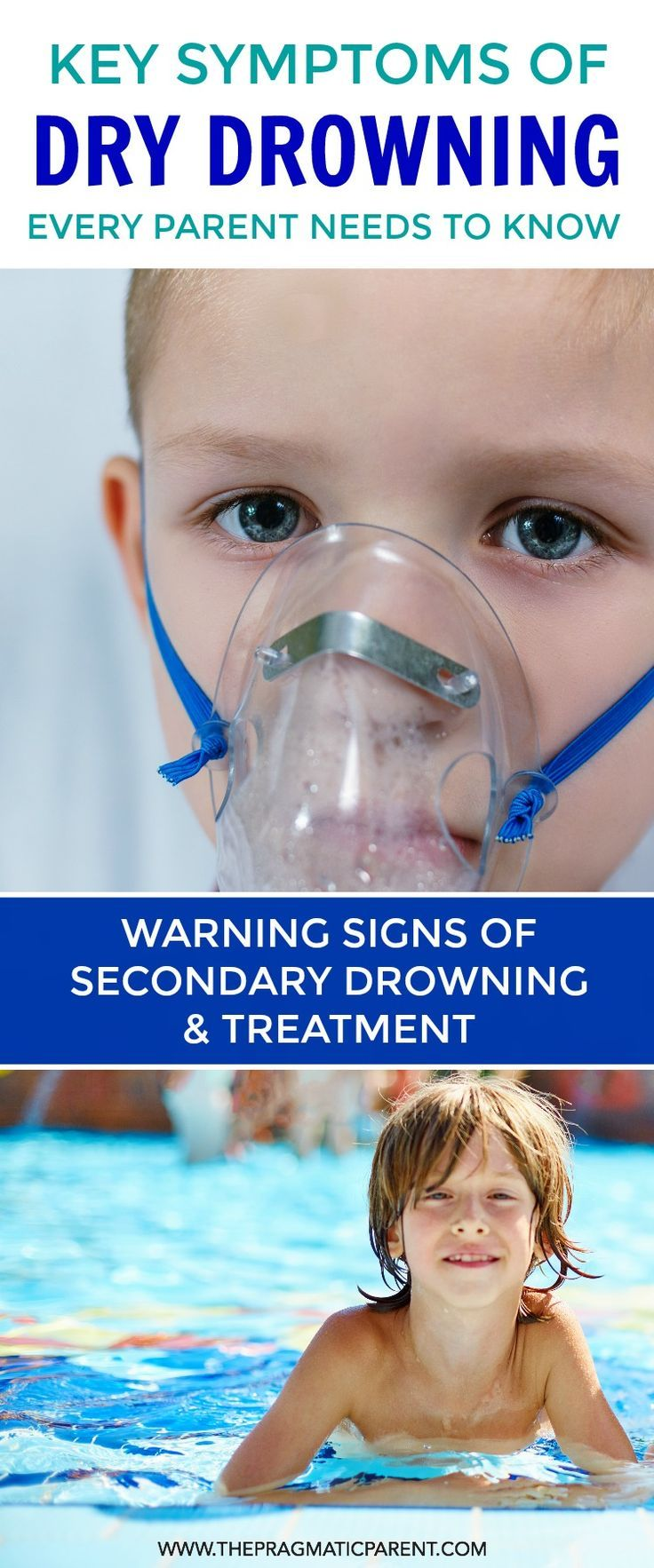 Know the Signs of Dry Drowning and Secondary Drowning (different things) and the Symptoms to watch for including unusual behavior and flu like symptoms Caused by Secondary Drowning.  Keep your kids safe this summer when they're playing in and around water
