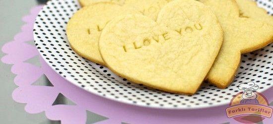 damla sakızlı kalp kurabiye