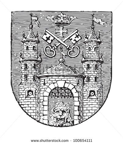 Riga coat of arms (capital city of Latvia) / vintage illustration from Meyers Konversations  sc 1 st  Pinterest & 773 best Latvian things images on Pinterest   Riga latvia ... 25forcollege.com
