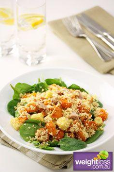Atkins Diet Recipes: Tuna & Quinoa Salad. #HealthyRecipes #DietRecipes #WeightLoss #WeightlossRecipes weightloss.com.au