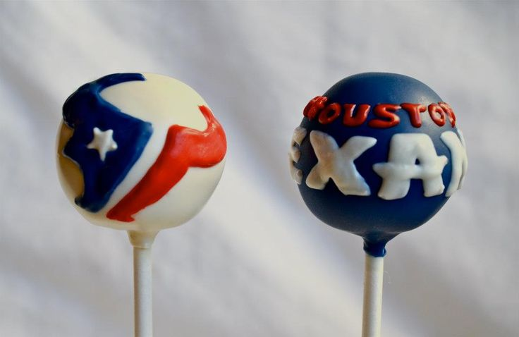 Houston Texans cake pops - by Keeya