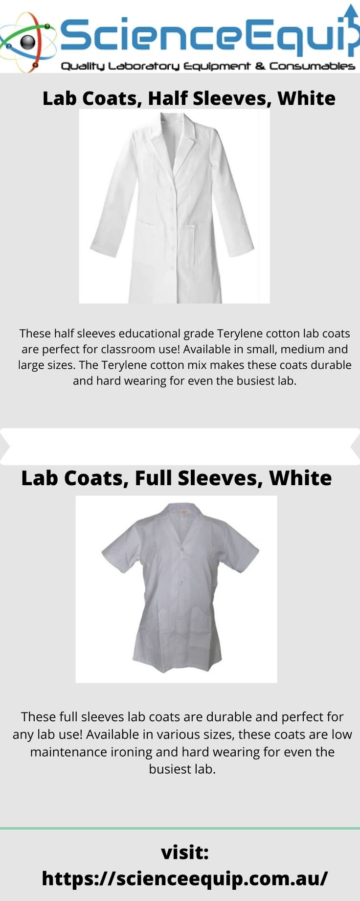 Buy lab coat online from science equip in 2020 Types