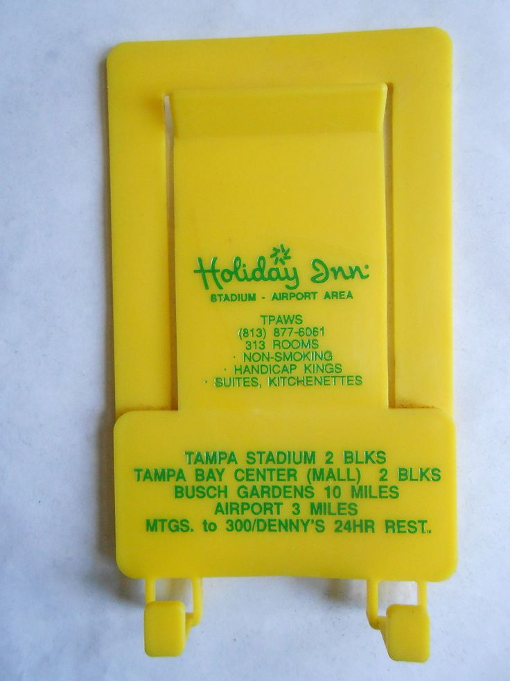 Neat old Holiday Inns Hotel / Motel Advertisement plastic clip paper / memo…