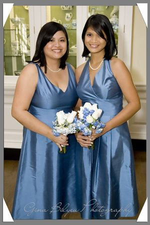 blue and Silver bridesmaid dresses for catholic wedding | my colors and why i choose them blue silver and