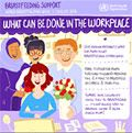 Breastfeeding infographic: what the workplace can do