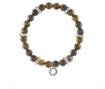 Peter Thomas Roth Fine Jewelry Peter Thomas Roth Explorer Mens Stretch Bead Bracelet Tiger Eye Gemstone Sterling Silver.