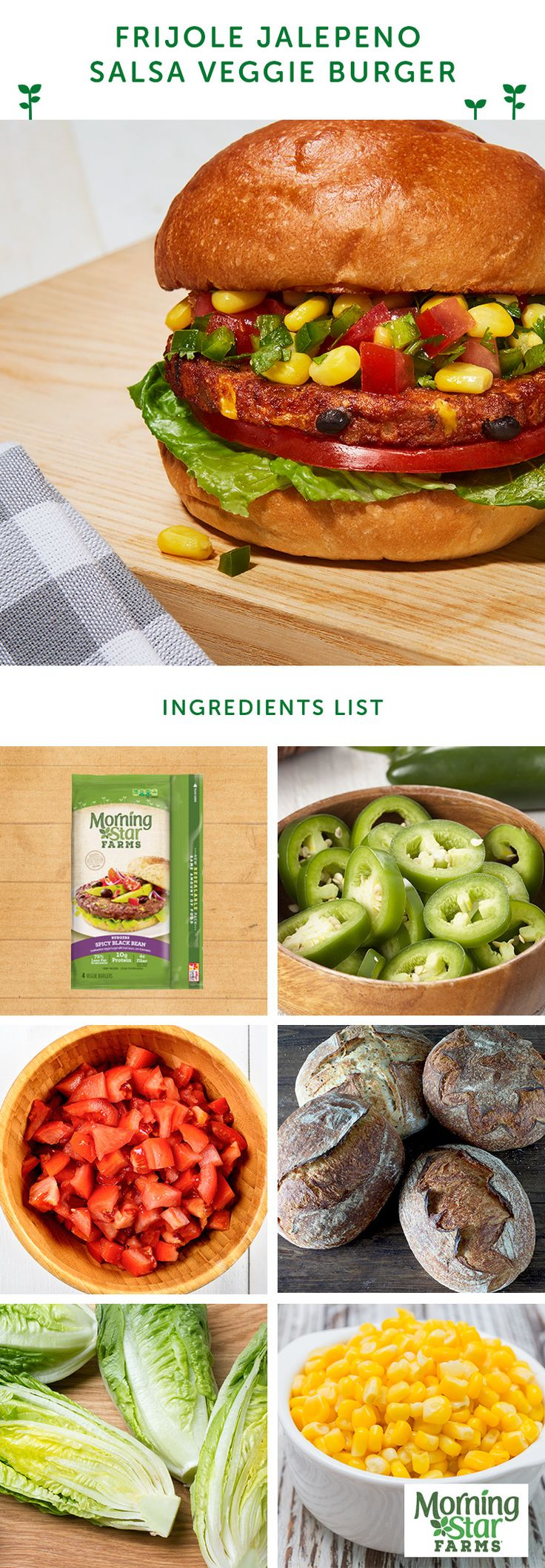 Satisfy your search for kick with the Frijole Jalapeno Salsa Burger. (Baking Eggplant Parmasean)