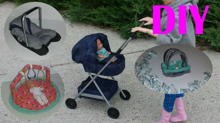 5 DIY Baby Miniatures Baby Stroller,Play Mat, etc