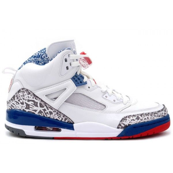 Air Jordan Spizike Blanc Varsity Red Rouge in True Bleu