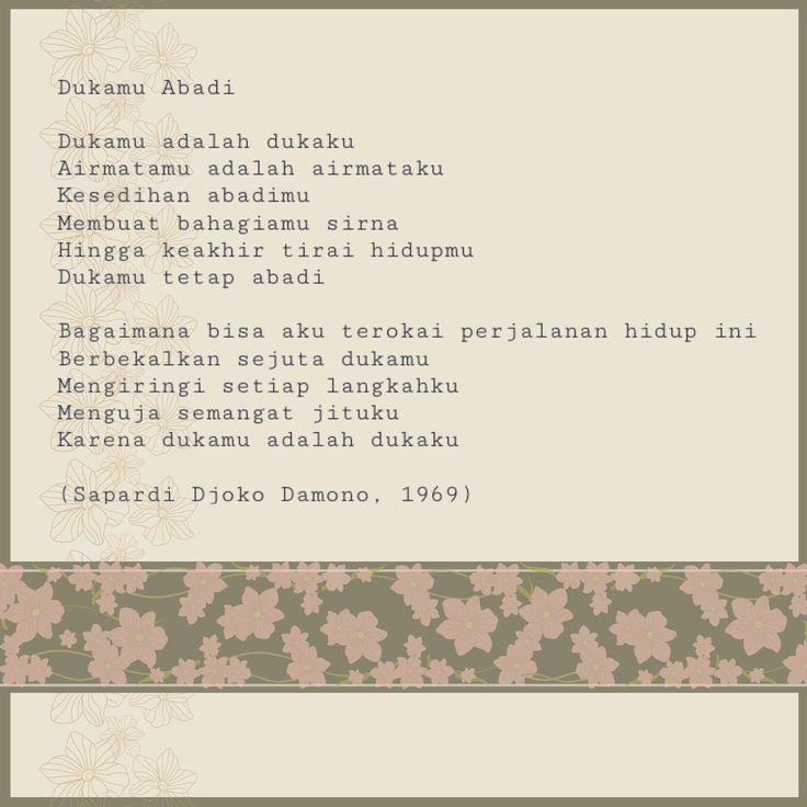 Dukamu abadi - Poem by Sapardi Djoko Damono
