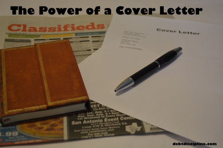 The Power of a Cover Letter