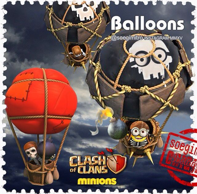 Clash of Clans  Balloons Minions