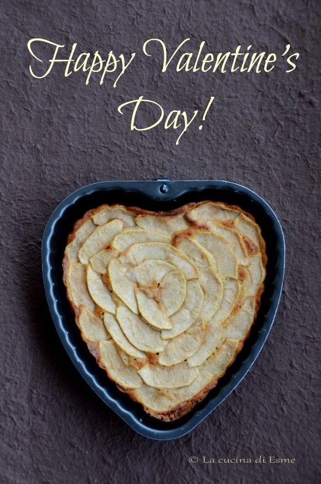 Torta di mele con amaretti -  un dolce per san Valentino