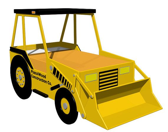 Digital Download: Front End Loader Bed Woodworking Plan (Twin Size) on Etsy, £4.84
