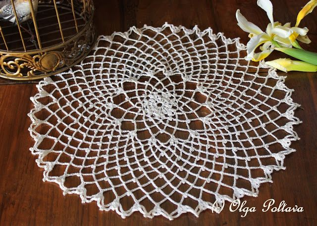 53 best Doily Patterns images on Pinterest | Crochet doilies ...