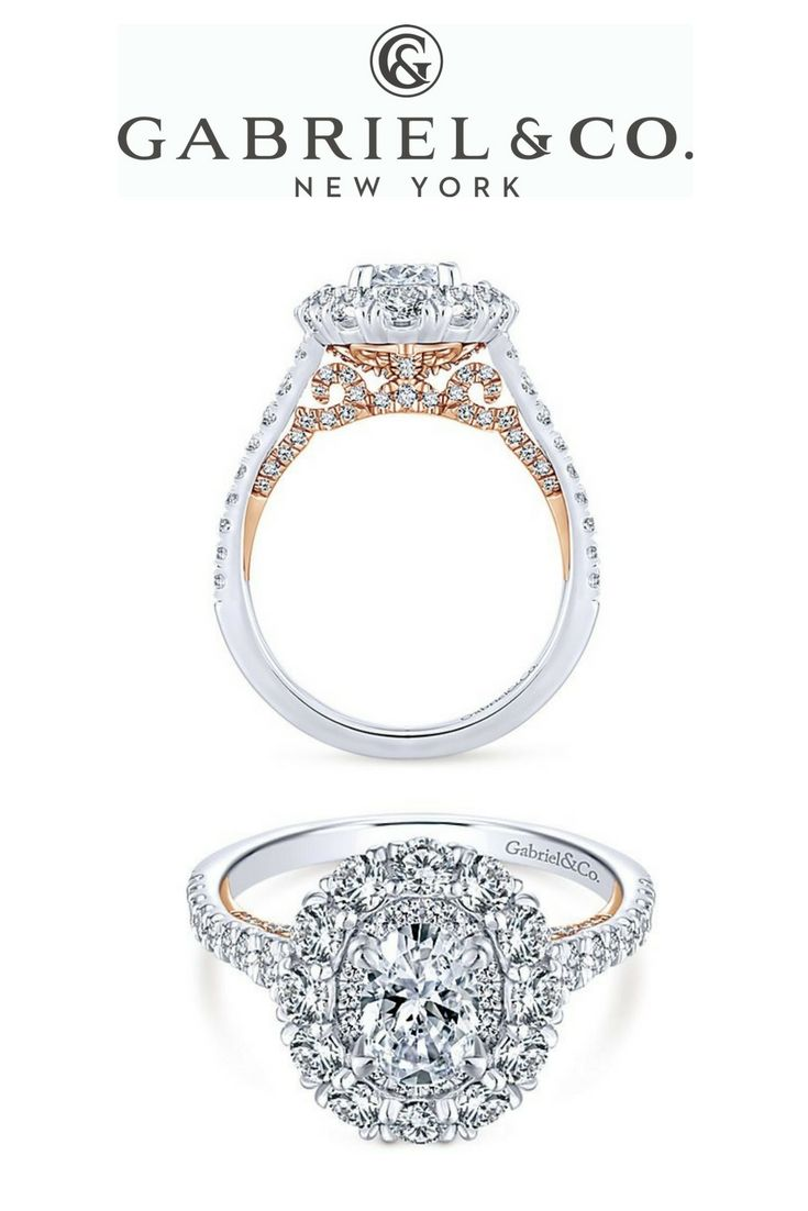 01da5a2e2416b 14k White/Rose Gold Oval Double Halo - ER13890O3T44JJ | Oval ...