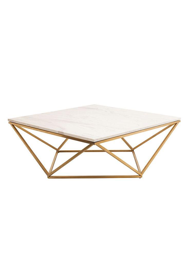 statement marble & gold coffee table #homedecor #interiordesign #livingroom