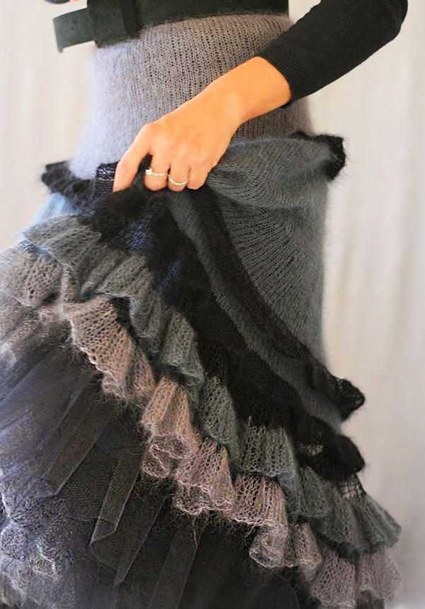 Тёплые фантазии вязаной моды: 55 экстравагантных и эффектных нарядов - Ярмарка…
