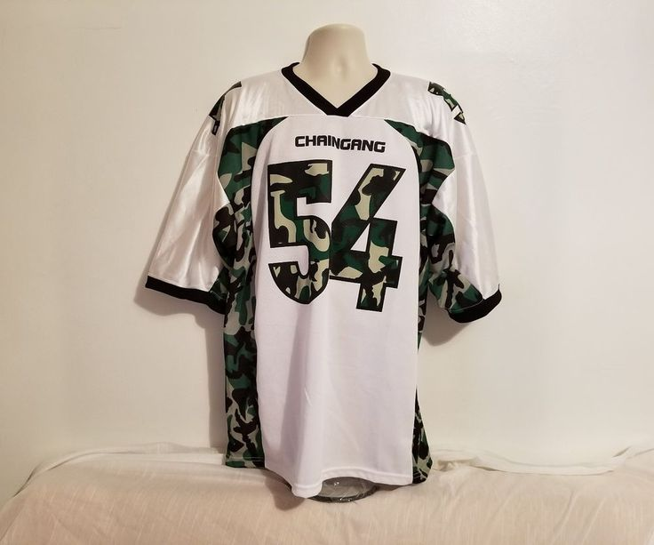 Rare John Cena ChainGang Mens Sz XXL WWE Official #54 Camo Football Jersey #WWE